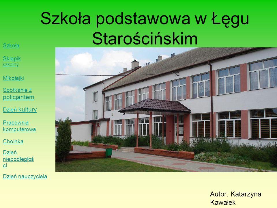 Szkoła podstawowa w Łęgu Starościńskim