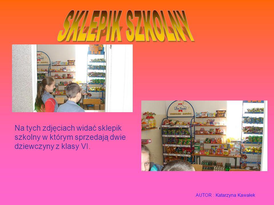 SKLEPIK SZKOLNY Na tych zdjęciach widać sklepik szkolny w którym sprzedają dwie dziewczyny z klasy VI.