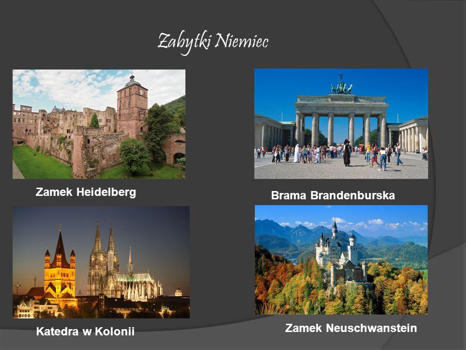 Zabytki Niemiec Zamek Heidelberg Brama Brandenburska