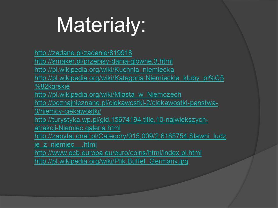 Materiały: http://zadane.pl/zadanie/819918