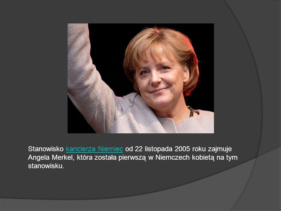 Stanowisko kanclerza Niemiec od 22 listopada 2005 roku zajmuje Angela Merkel, która została pierwszą w Niemczech kobietą na tym stanowisku.