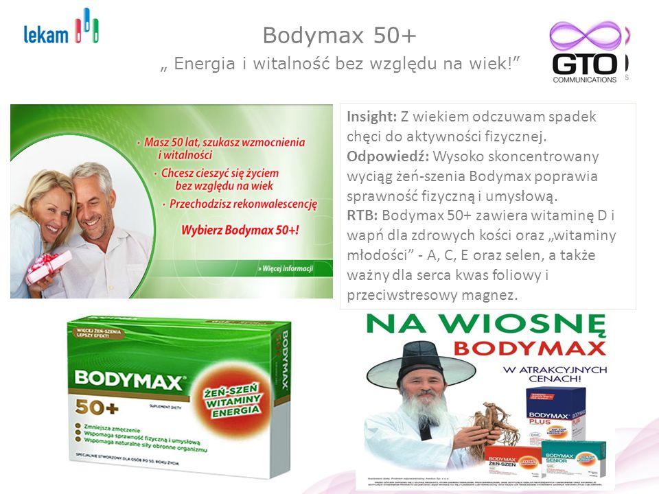 """Bodymax 50+ """" Energia i witalność bez względu na wiek!"""