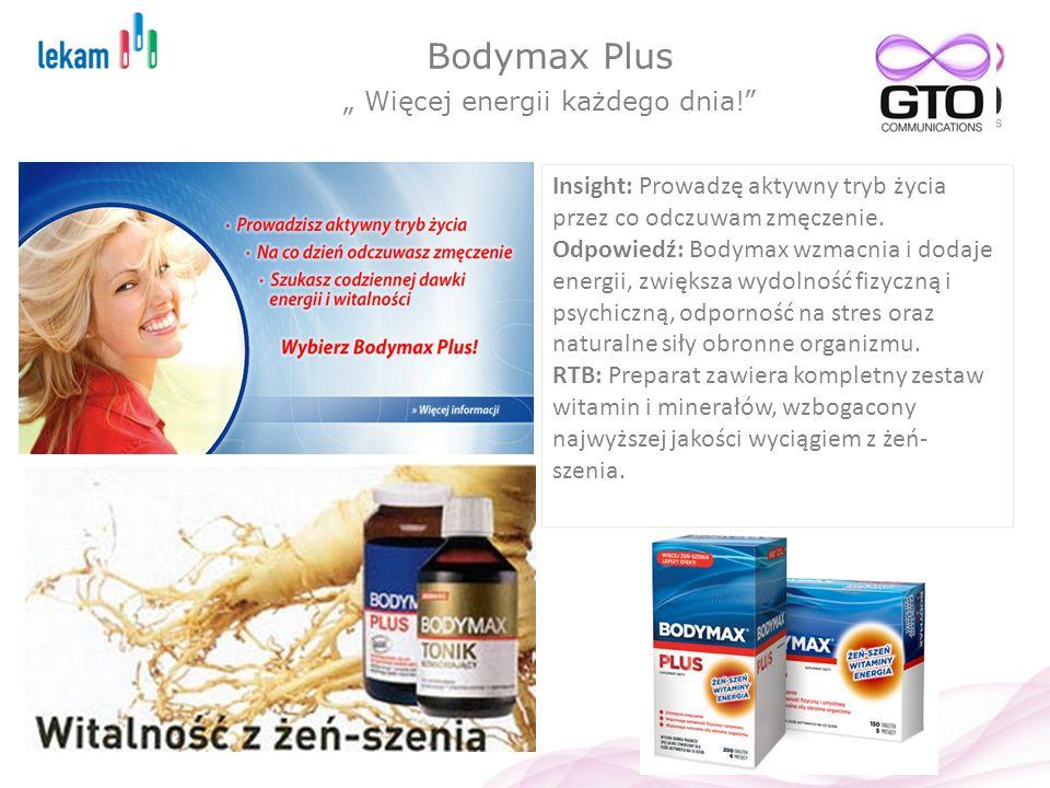 """Bodymax Plus """" Więcej energii każdego dnia!"""