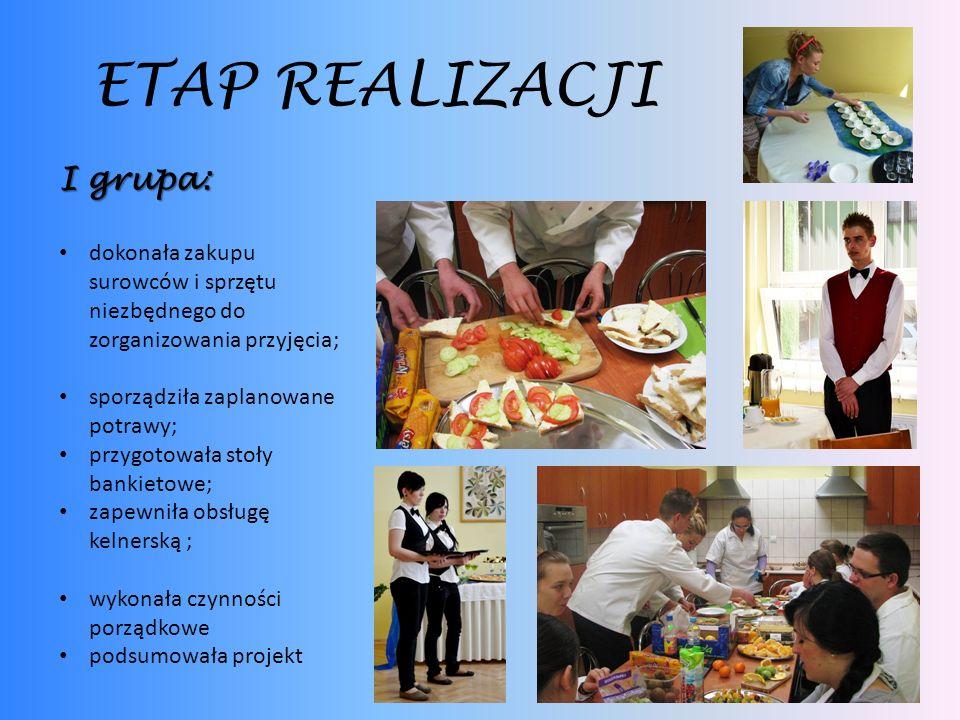 ETAP REALIZACJI I grupa: