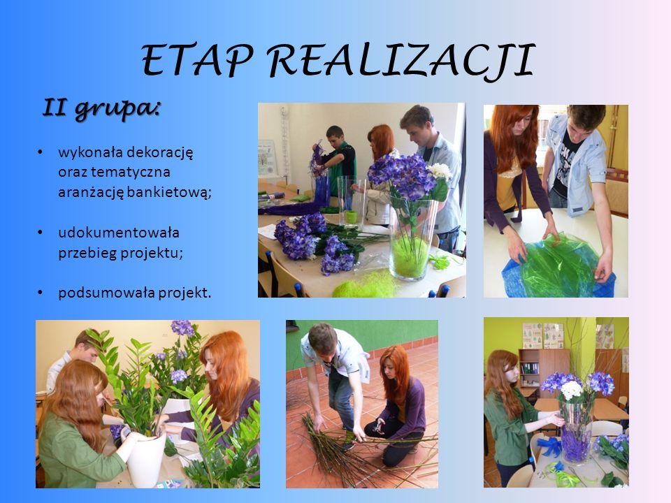 ETAP REALIZACJI II grupa: