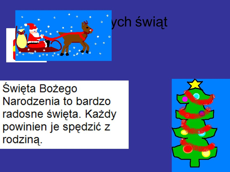Wesołych świąt