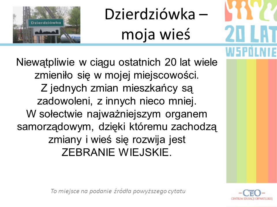 Dzierdziówka – moja wieś