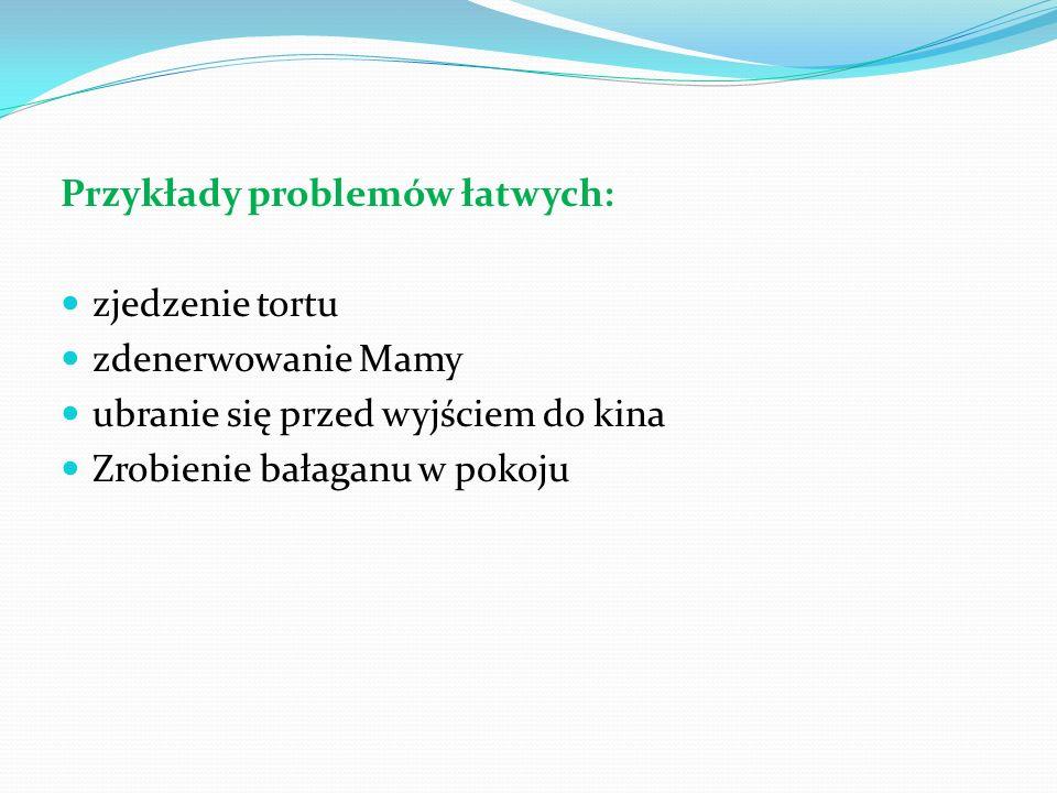 Przykłady problemów łatwych: