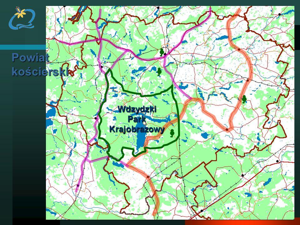 Powiat kościerski Wdzydzki Park Krajobrazowy