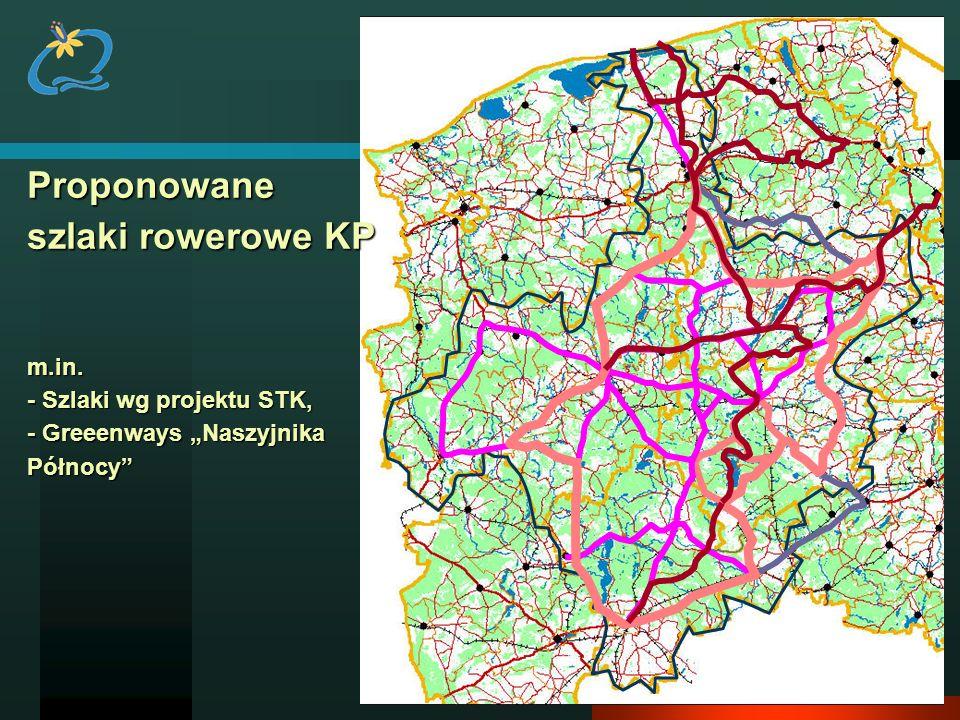 Proponowane szlaki rowerowe KP m. in