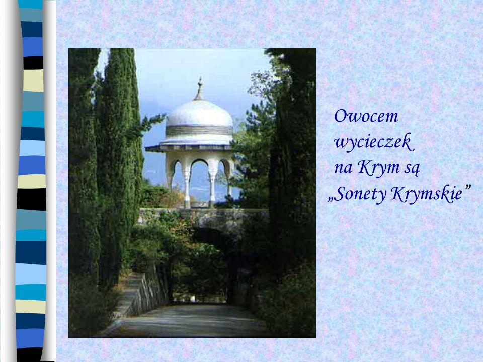 """Owocem wycieczek na Krym są """"Sonety Krymskie"""