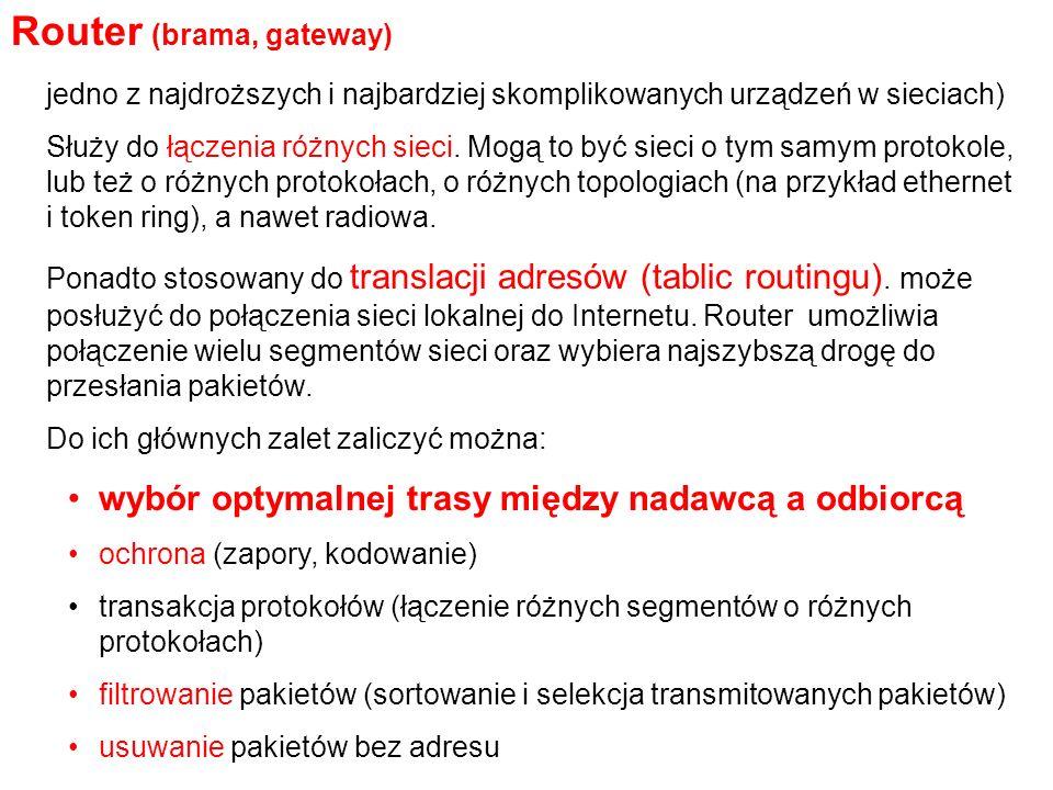 Router (brama, gateway)
