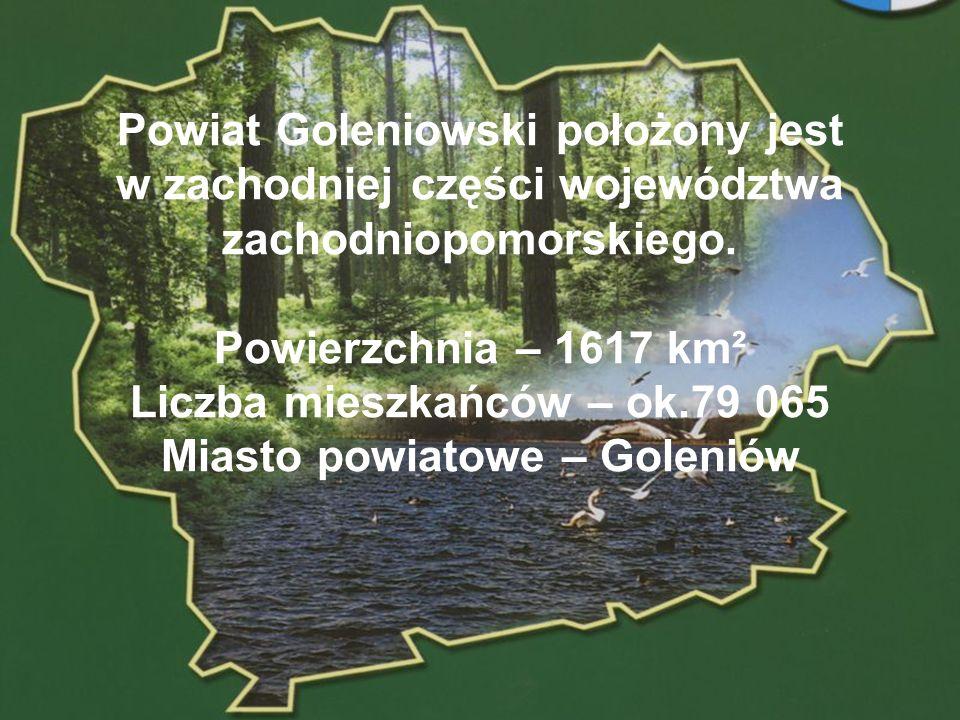Liczba mieszkańców – ok.79 065 Miasto powiatowe – Goleniów