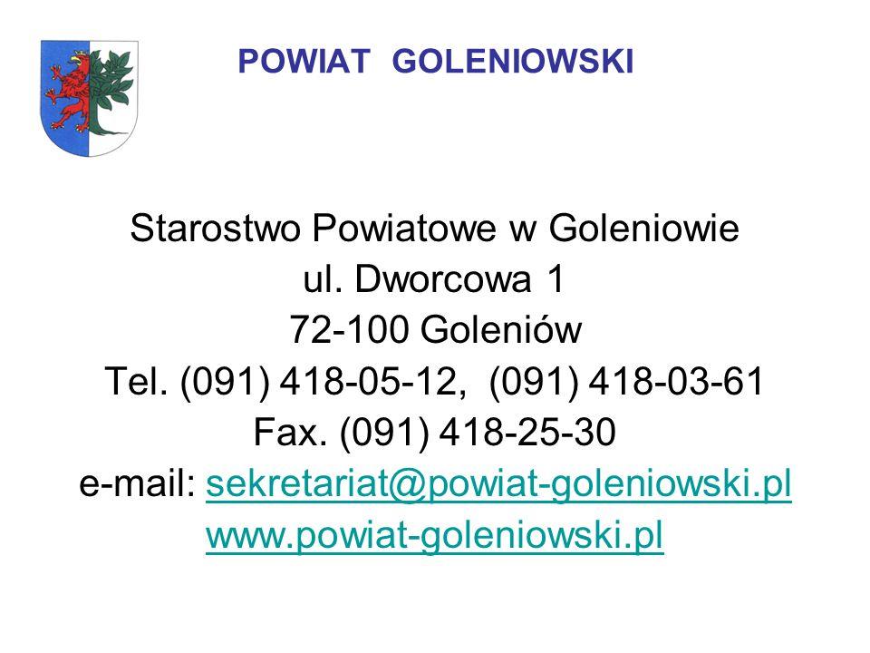 Starostwo Powiatowe w Goleniowie ul. Dworcowa 1 72-100 Goleniów