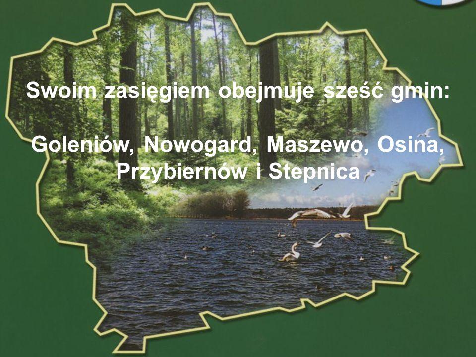 Swoim zasięgiem obejmuje sześć gmin: