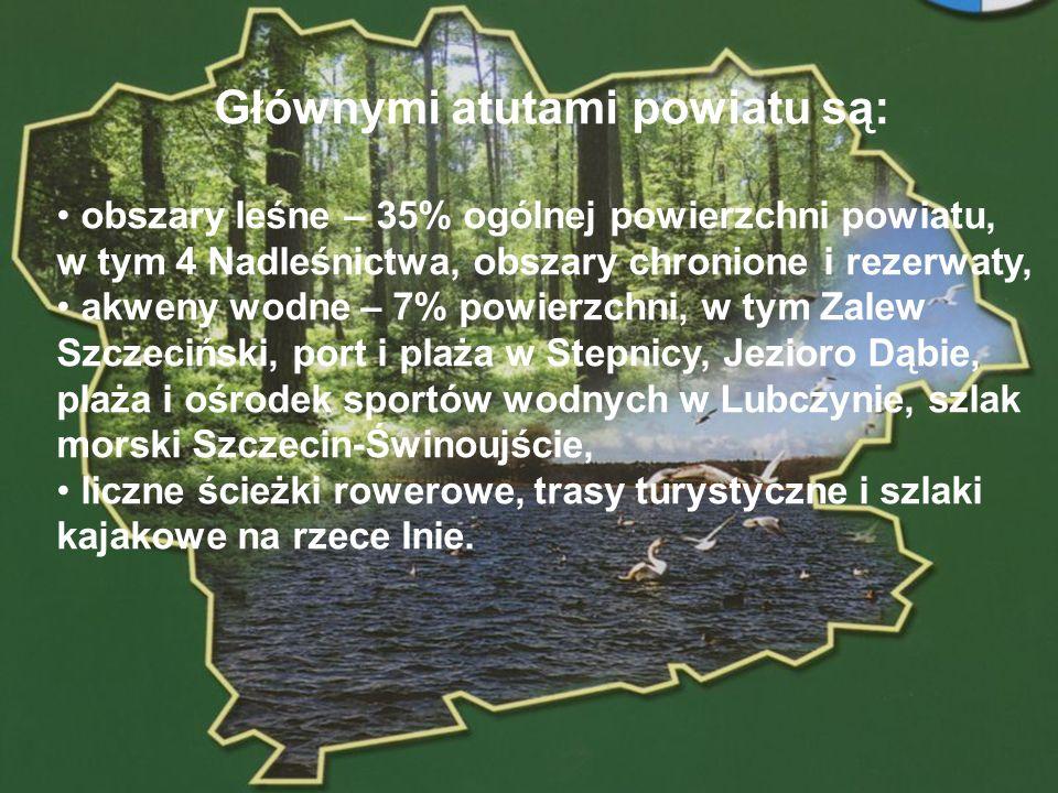 Głównymi atutami powiatu są: