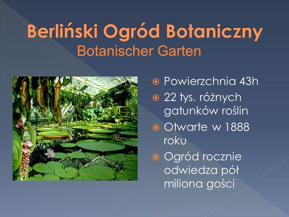 Botanischer Garten Powierzchnia 43h 22 tys. różnych gatunków roślin