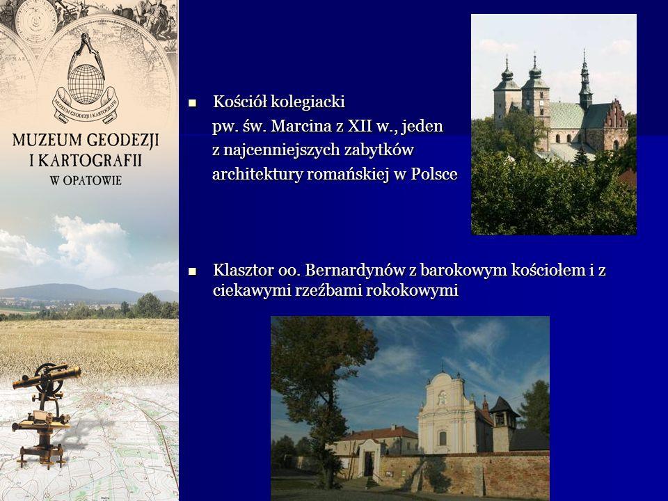 Kościół kolegiacki pw. św. Marcina z XII w., jeden. z najcenniejszych zabytków. architektury romańskiej w Polsce.