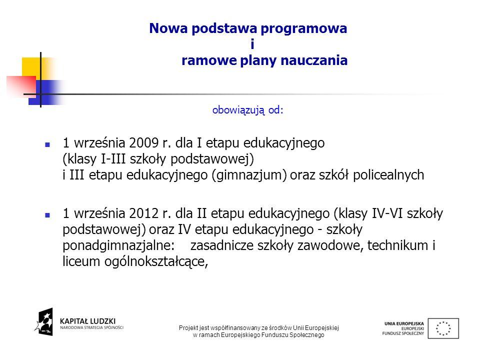 Nowa podstawa programowa i ramowe plany nauczania