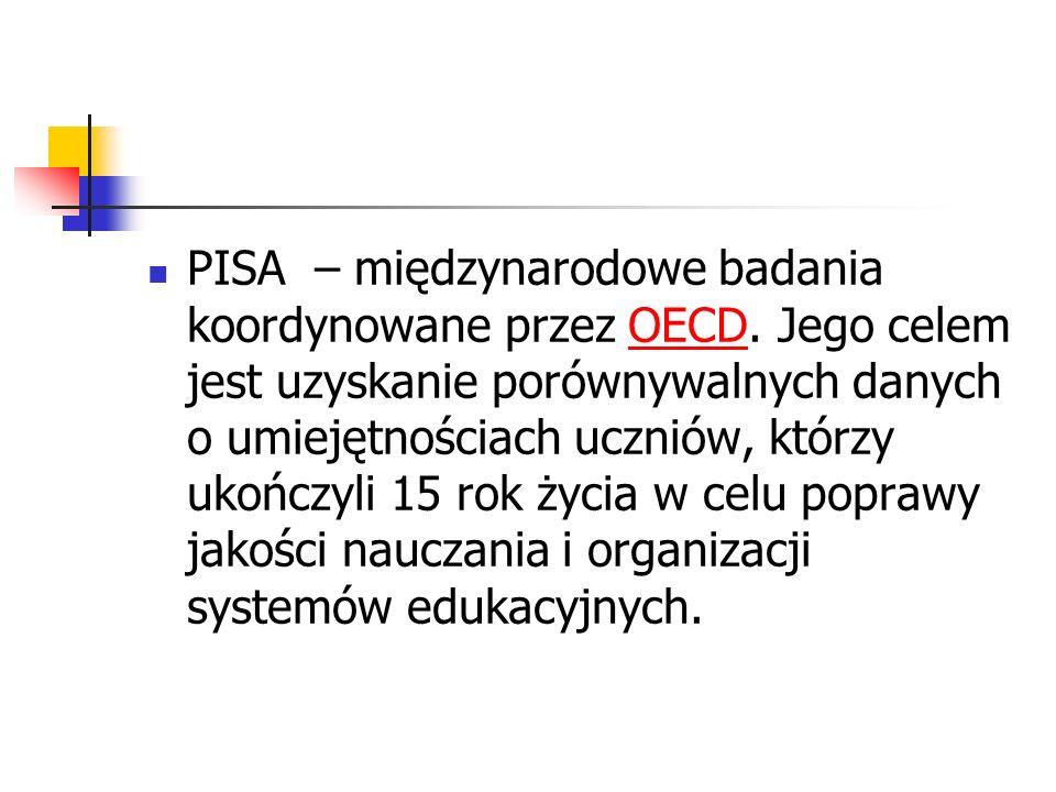 PISA – międzynarodowe badania koordynowane przez OECD
