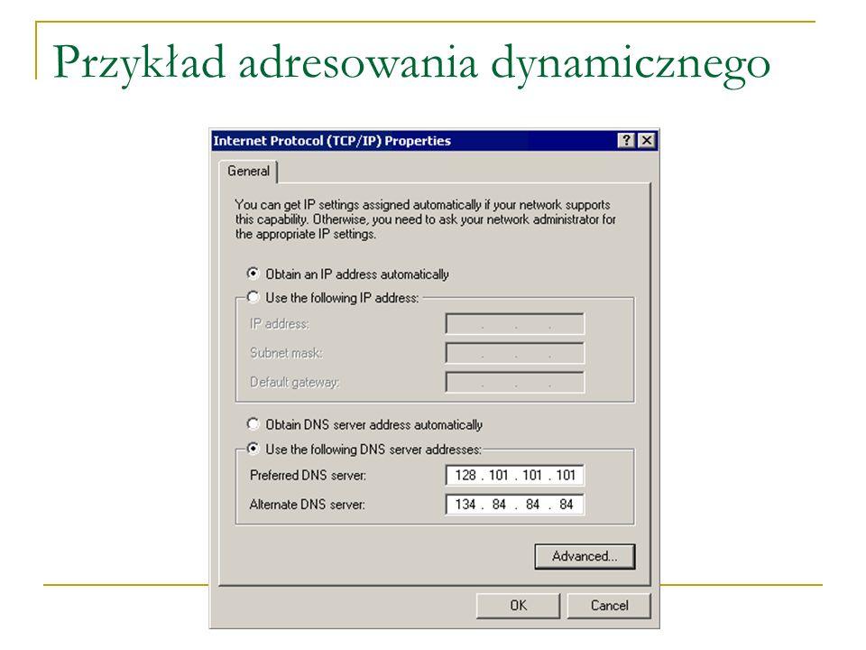 Przykład adresowania dynamicznego