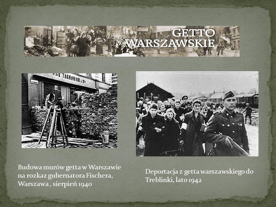 Budowa murów getta w Warszawie na rozkaz gubernatora Fischera, Warszawa , sierpień 1940