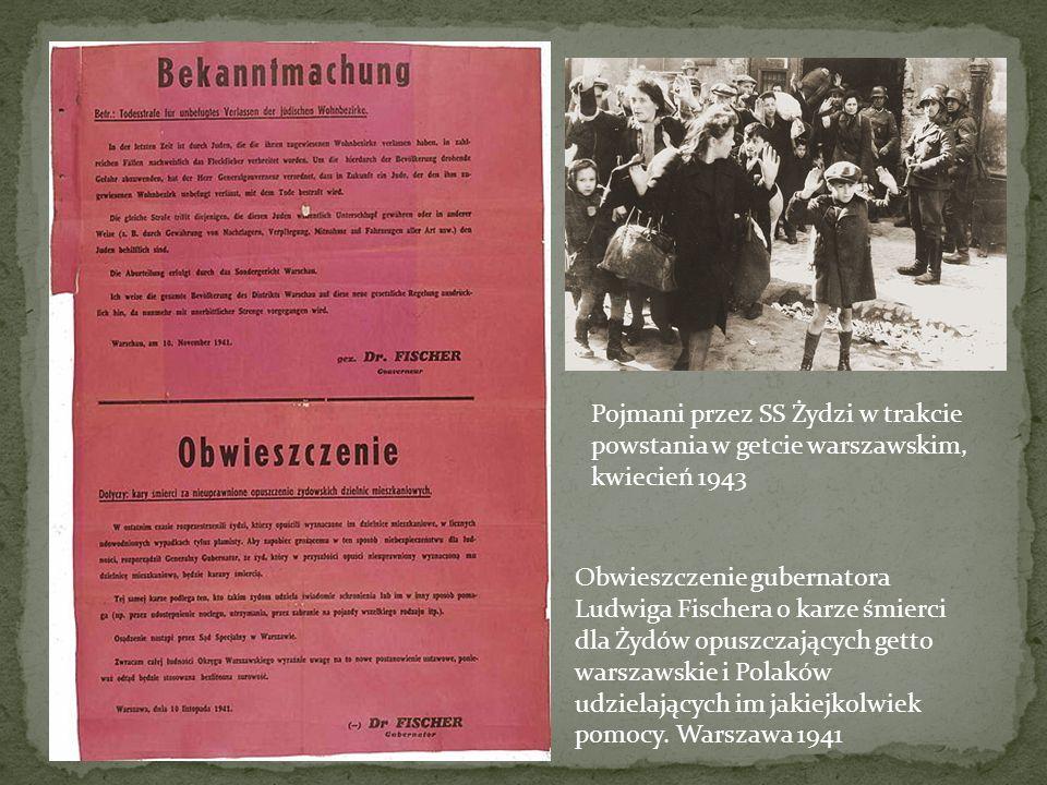 Pojmani przez SS Żydzi w trakcie powstania w getcie warszawskim, kwiecień 1943