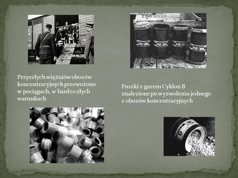 Przyszłych więźniów obozów koncentracyjnych przewożono w pociągach, w bardzo złych warunkach