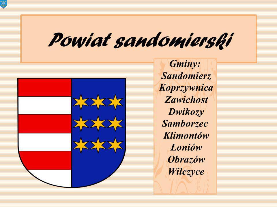 Powiat sandomierski Gminy: Sandomierz Koprzywnica Zawichost Dwikozy