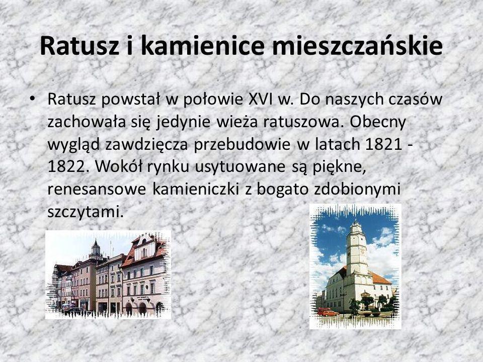 Ratusz i kamienice mieszczańskie