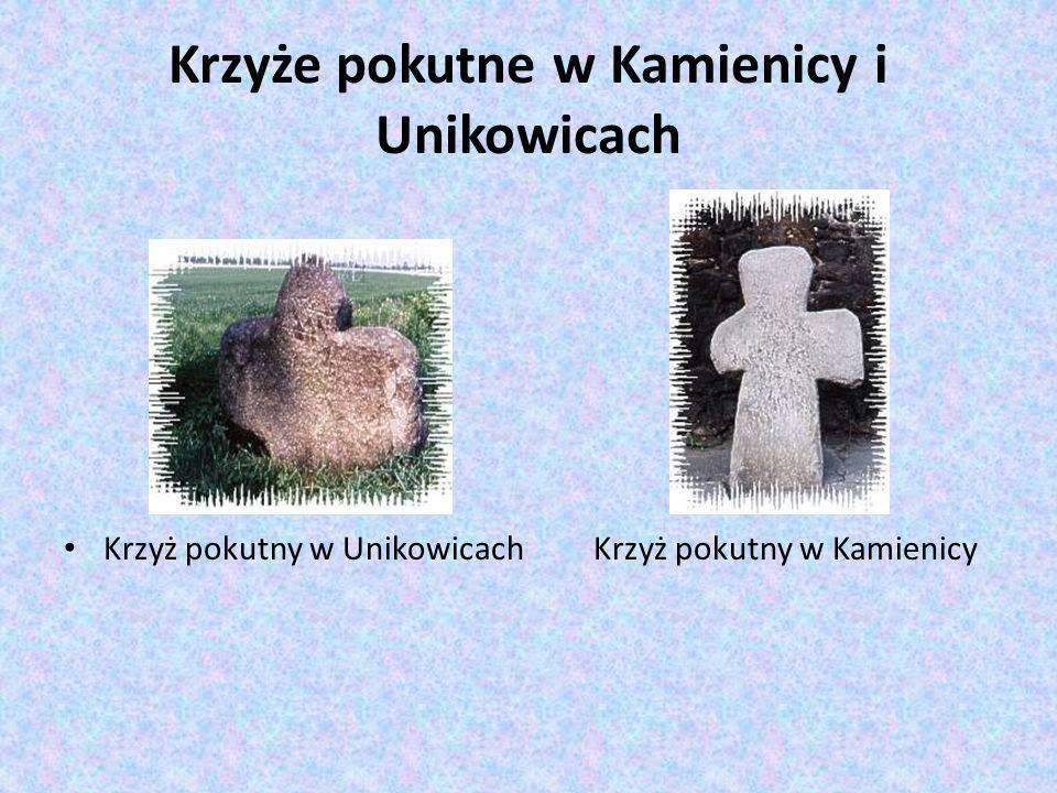 Krzyże pokutne w Kamienicy i Unikowicach