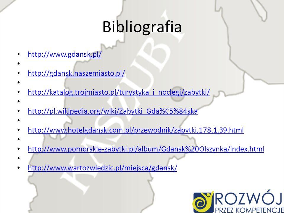Bibliografia http://www.gdansk.pl/ http://gdansk.naszemiasto.pl/