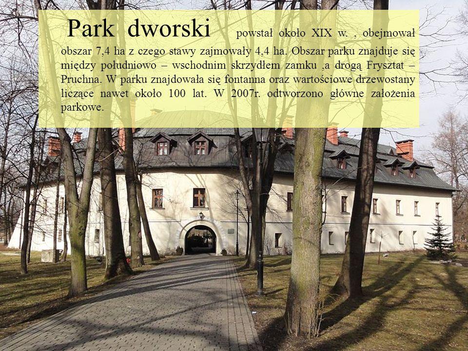 Park dworski powstał około XIX w