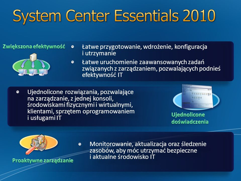 System Center Essentials 2010