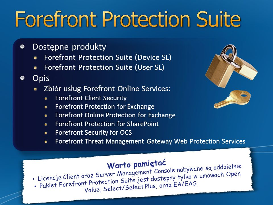 Forefront Protection Suite