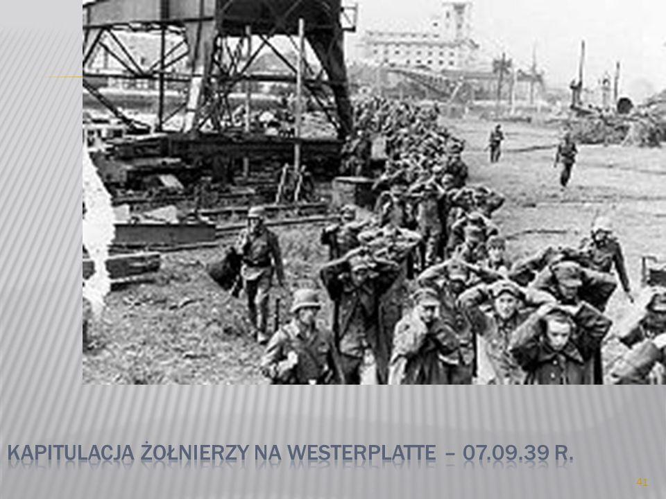 Kapitulacja żołnierzy na westerplatte – 07.09.39 r.