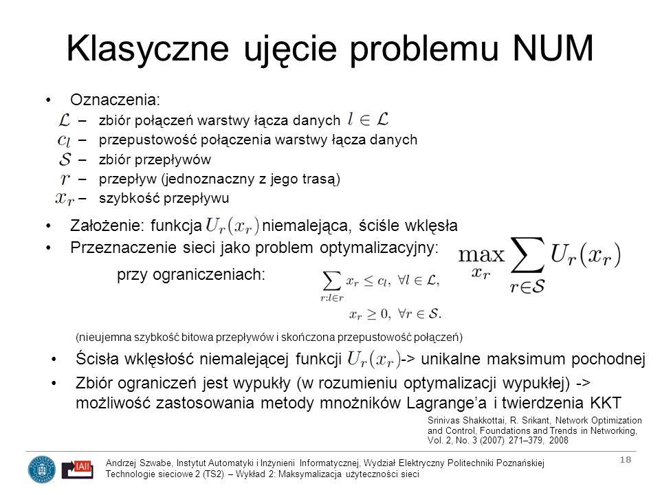 Klasyczne ujęcie problemu NUM
