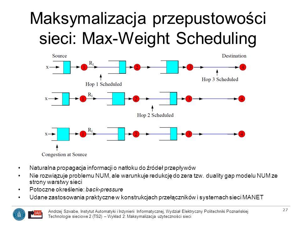 Maksymalizacja przepustowości sieci: Max-Weight Scheduling