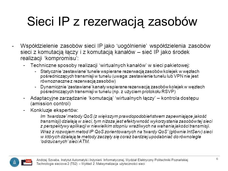 Sieci IP z rezerwacją zasobów