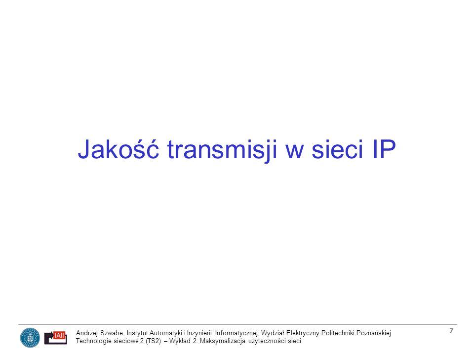Jakość transmisji w sieci IP