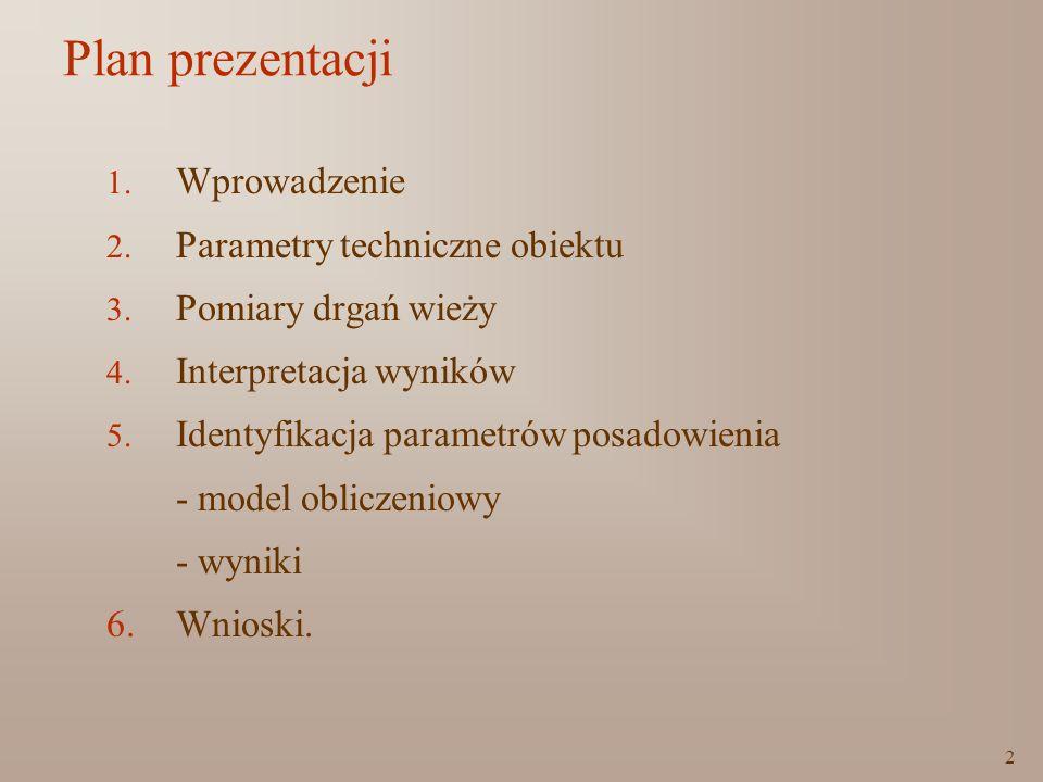 Plan prezentacji Wprowadzenie Parametry techniczne obiektu