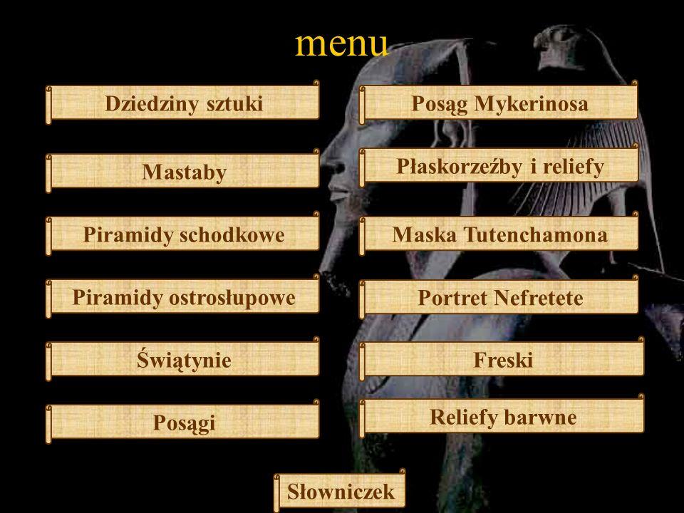 Płaskorzeźby i reliefy Piramidy ostrosłupowe