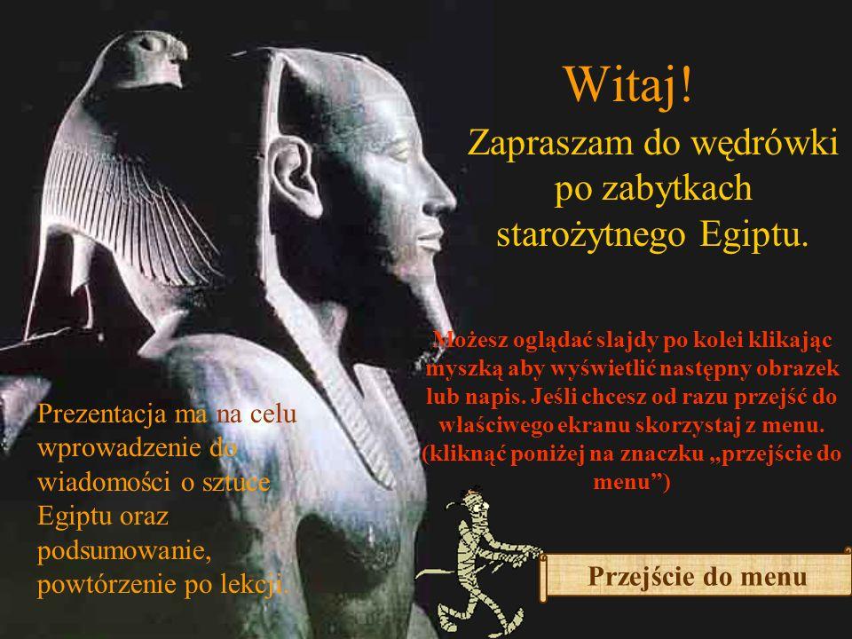 Zapraszam do wędrówki po zabytkach starożytnego Egiptu.