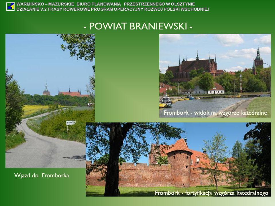 - POWIAT BRANIEWSKI - Frombork - widok na wzgórze katedralne