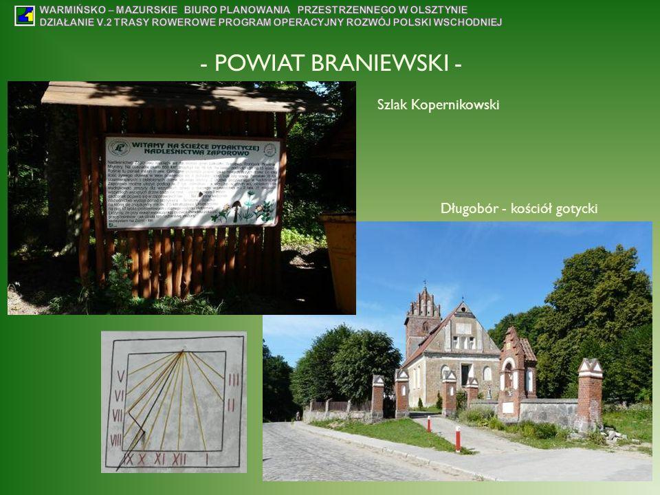 - POWIAT BRANIEWSKI - Szlak Kopernikowski Długobór - kościół gotycki