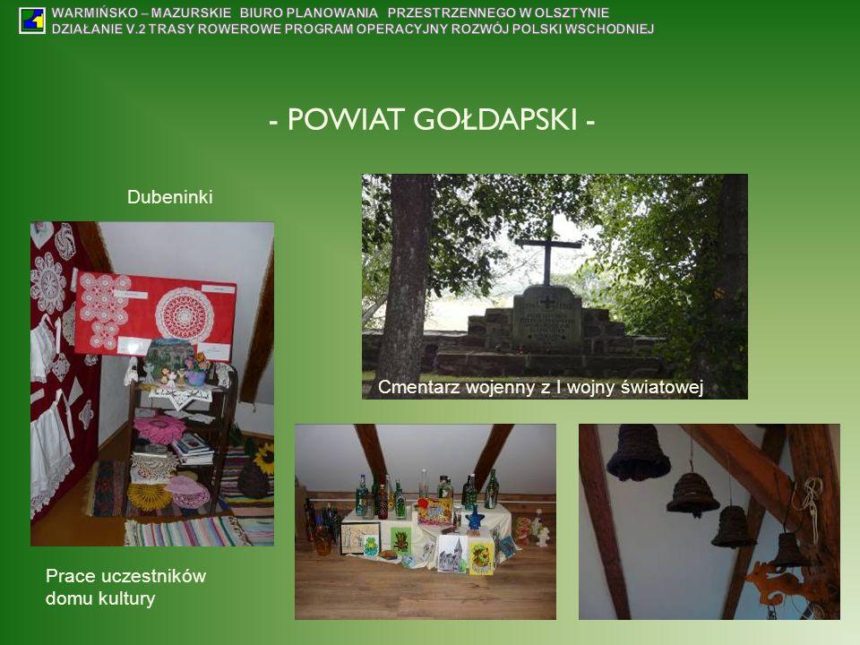 - POWIAT GOŁDAPSKI - Dubeninki Cmentarz wojenny z I wojny światowej
