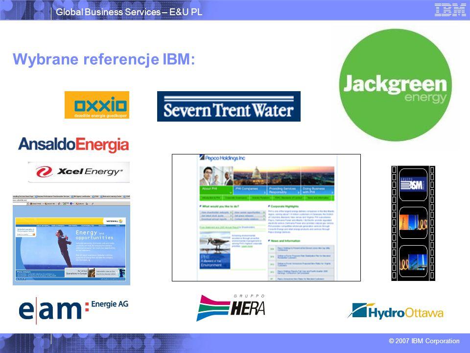 Wybrane referencje IBM: