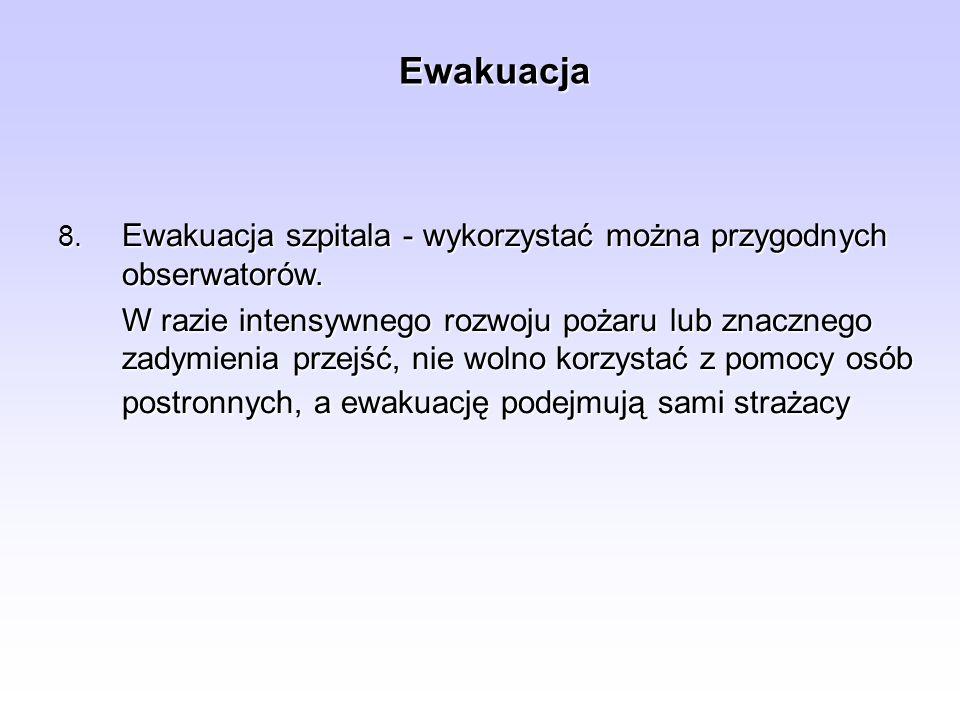 Ewakuacja Ewakuacja szpitala - wykorzystać można przygodnych obserwatorów.