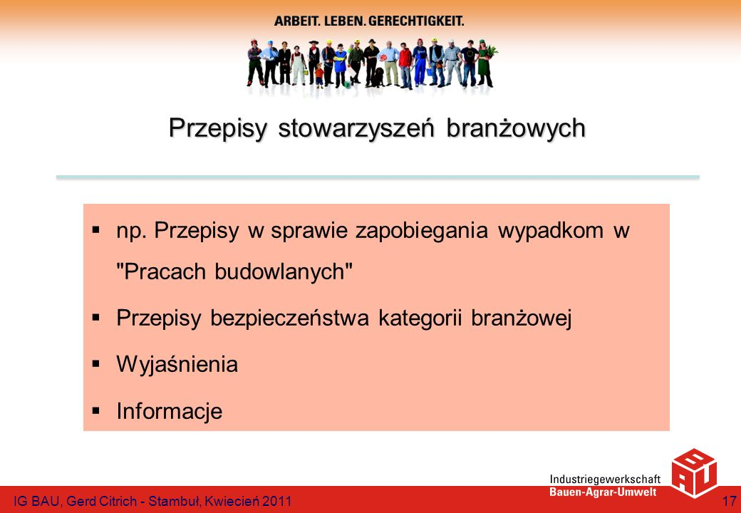 Przepisy stowarzyszeń branżowych