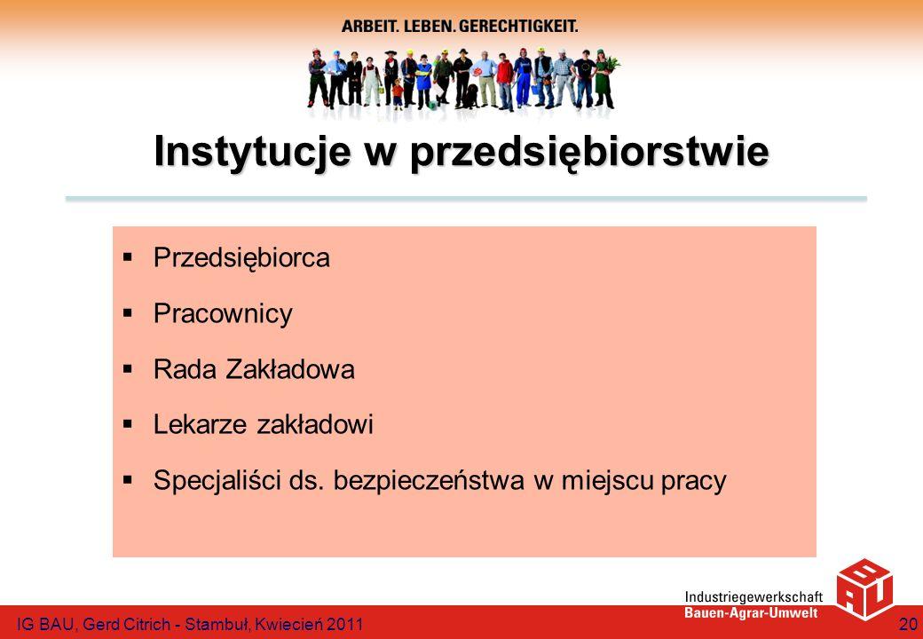 Instytucje w przedsiębiorstwie